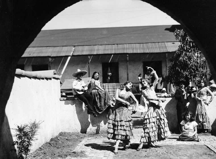 dancers at the avila adobe