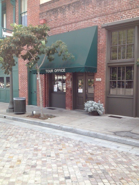 You will find our office in the southeast corner of the Plaza, next to the historic Firehouse Museum.